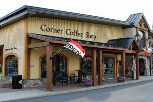Corner Coffee Shop in Intercourse, PA