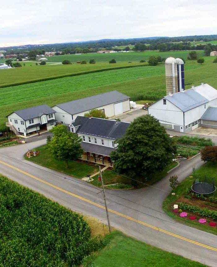 Lancaster PA Farm Stay from above